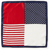Daniel Cremieux American Flag Silk Pocket Square