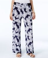 INC International Concepts Printed Wide-Leg Soft Pants, Only at Macy's