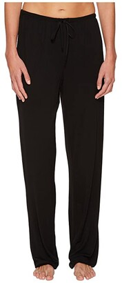 Donna Karan Modal Spandex Jersey Long Pants (Black) Women's Pajama