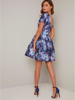 Chi Chi London Zarya Dress - Navy