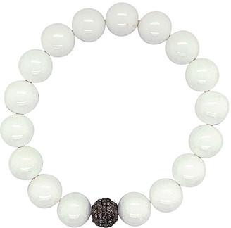 Bavna 0.79 Ct. Tw. Diamond & Agate Stretch Bracelet