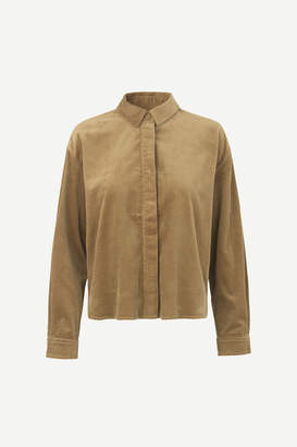 Samsoe & Samsoe Kelly overshirt - Khaki - xs | cotton