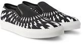 Neil Barrett Printed Canvas Slip-On Sneakers