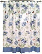 Lenox Blue Floral Shower Curtain Bedding