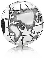 Pandora Clip - Sterling Silver Globe, Moments Collection