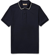 Burberry - Slim-fit Contrast-tipped Cotton-piqué Polo Shirt