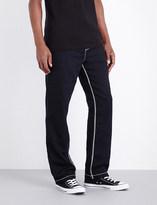 True Religion Contrast-stitch wide-leg cotton-jersey jogging bottoms