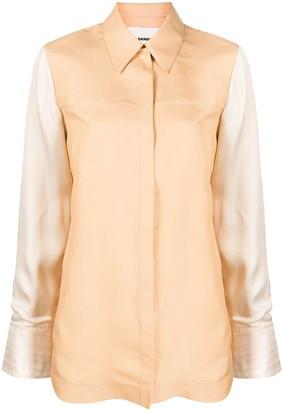 Jil Sander Contrasting-Sleeve Fitted Shirt