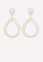 Bebe Teardrop Statement Earrings