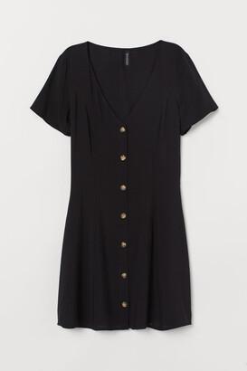 H&M V-neck viscose dress