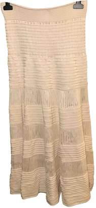 Celine Ecru Silk Skirt for Women Vintage