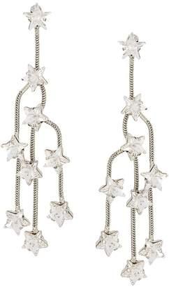 P.A.R.O.S.H. star crystal chandelier earrings