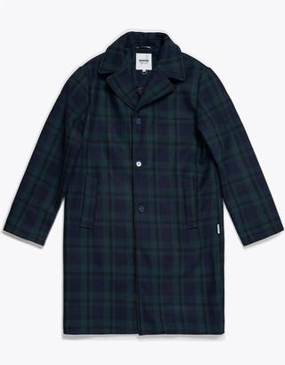 Wemoto Navy Blue Seth Overcoat - S | navy blue - Navy blue