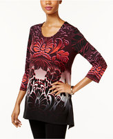 JM Collection Ombré-Print Tunic, Only at Macy's