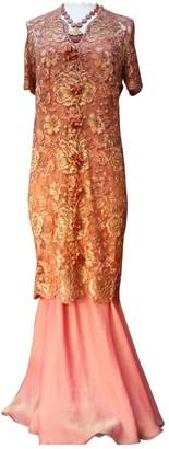 Ungaro Orange Silk Dress for Women Vintage