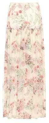 Giambattista Valli Floral-printed silk skirt