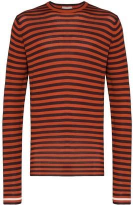 Lou Dalton x John Smedley striped jumper