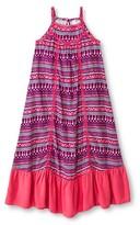 Cherokee Girls' Woven Maxi Dress Pink