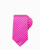 Le Château Geo Print Silk Skinny Tie