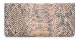 Brahmin Chiffon Mare Ady Snakeskin-Print Leather Wallet
