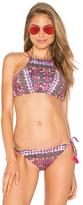 Nanette Lepore Stargazer Bikini Top