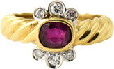 One Kings Lane Vintage Italian Gold Ruby & Diamond Ring