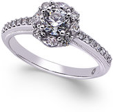 Macy's Diamond Cluster Engagement Ring (1-1/4 ct. t.w.) in 14k White Gold