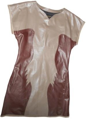 Diesel Black Gold Multicolour Leather Dress for Women