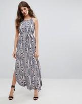 Vero Moda Belted Graphic Print Maxi Dress