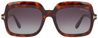 Tom Ford Tortoiseshell Square Sunglasses