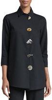 Caroline Rose Stretch-Gabardine Travel Jacket, Petite