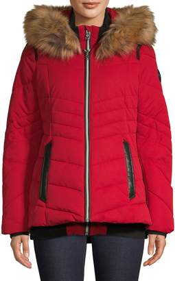 Point Zero Faux Fur-Trimmed Jacket