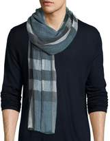 Burberry Men's Giant Exploded Check Linen Scarf