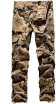 SSLR Men's Cotton Military-Style Army Cargo Pants