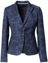 Banana Republic Classic-Fit Wool-Blend Floral Blazer