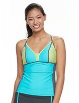 Free Country Women's Colorblock Double-Strap Tankini Top