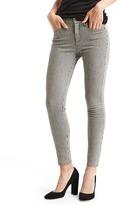 Gap Mid rise railroad stripe true skinny ankle jeans