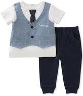 Calvin Klein 2-Pc. Faux-Vest T-Shirt & Jogger Pants Set, Baby Boys (0-24 Months)
