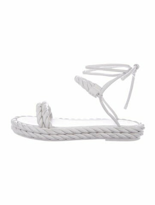 Valentino The Rope Leather Espadrilles White
