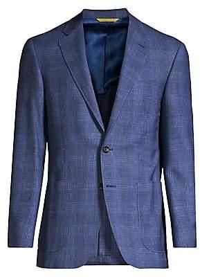 Canali Men's Check Wool & Linen Sportcoat