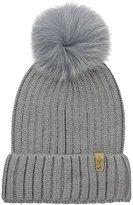 Mackage Women's Mac Wool/Acrylic Hat with Fur Pom Pom