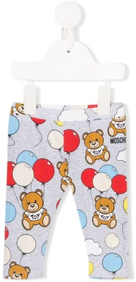 MOSCHINO BAMBINO Bear-Print Trousers
