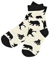 Hatley Boy's Bears On Natural Sun Ankle Socks