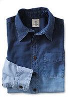 Classic Little Boys Novelty Chambray Shirt-Chambray Dip Dye