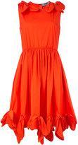 MSGM knots detail dress - women - Cotton/Spandex/Elastane - 46