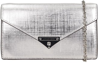 Michael Kors Shoulder Bag In Silver Leather