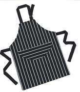Children's Chefs or Cooks Kitchen Apron in Navy Butchers Stripe, (57 x 45) by Rushbrookes