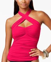 LaBlanca La Blanca Island Goddess Shirred Convertible Tankini Top Women's Swimsuit