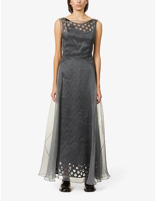 Maison Margiela Cut-out silk organza maxi dress