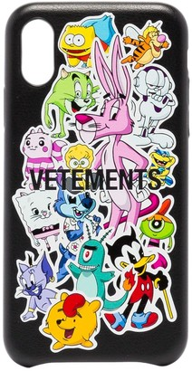 Vetements Monster Stickers iPhone XS case
